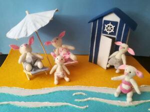 """Tapete de juego """" Un día de playa con los Rabbit"""""""