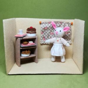 Tesa Bunny en su cocina